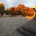 Paver patio stairs